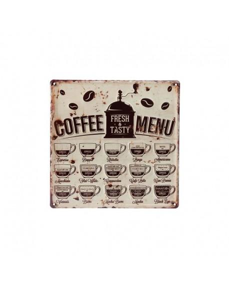 Szyld metalowy Kawa