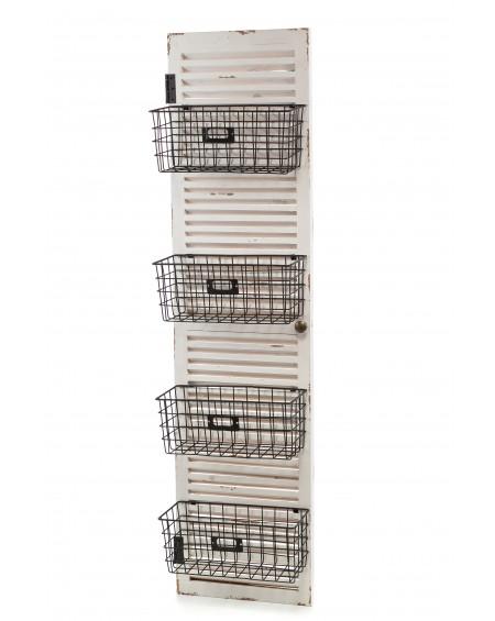 Półka shutters z koszykami Lamali