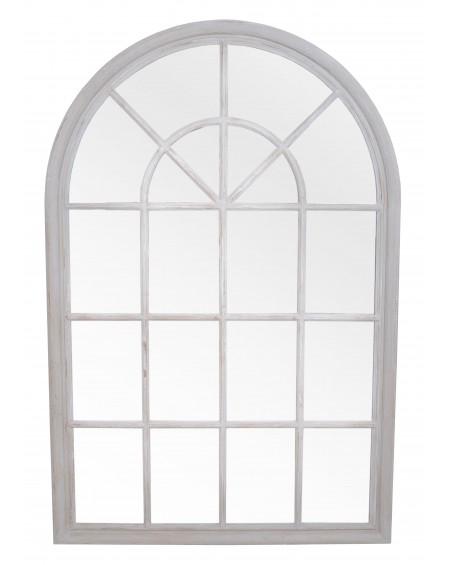 Lustro okno białe duże