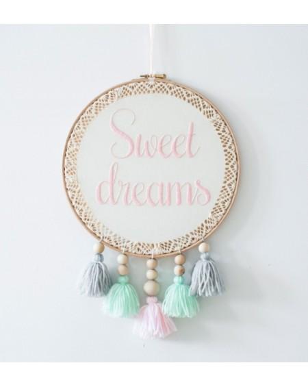 Łapacz snów z ręcznym haftem Sweet Dreams