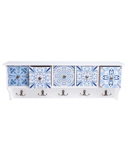 Półka wisząca Mozaika 5 szuflad