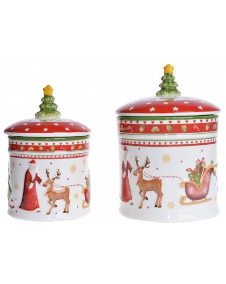 Pojemnik ceramiczny z choinką