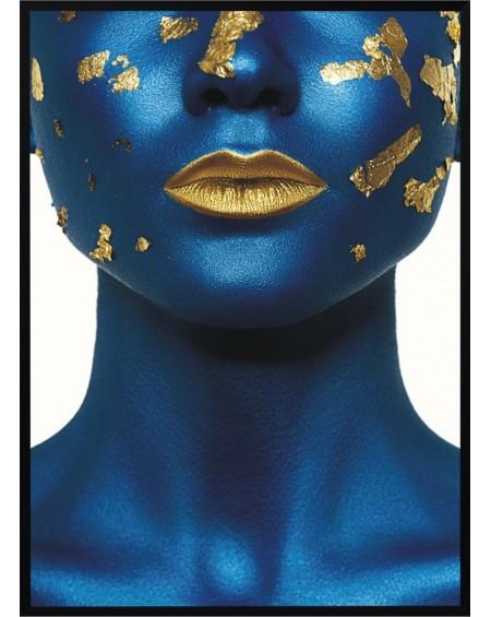 Plakat w ramie Blue Girl 50x70