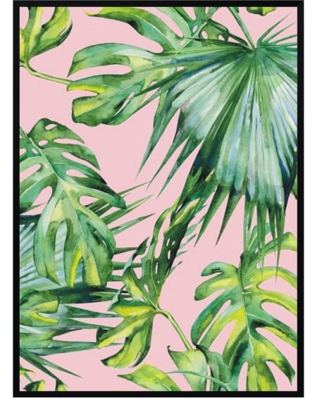Plakat w ramie Palm pink 50x70