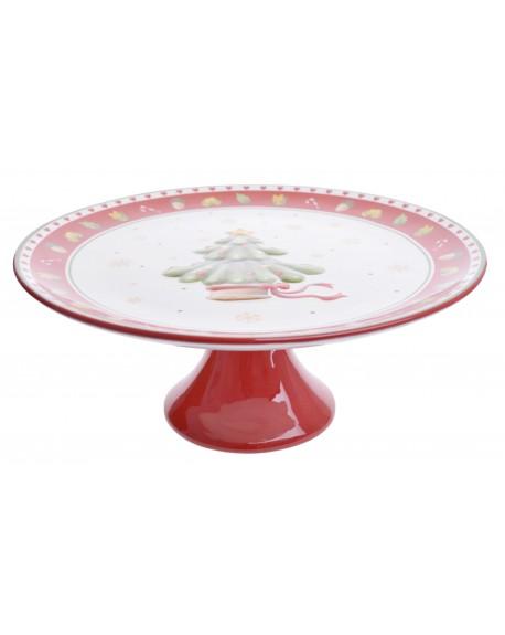 Patera ceramiczna z choinką