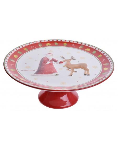 Patera ceramiczna z Mikołajem