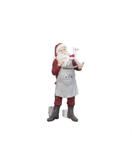 Figurka Mikołaj z konikiem na biegunach