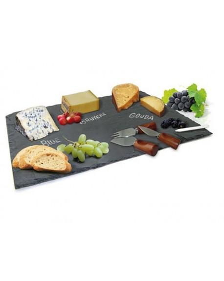 Deska do serów z nożami i kredą