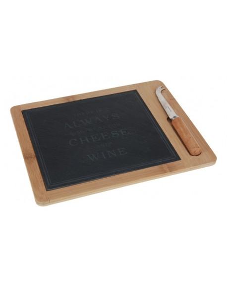 Deska do serów bambusowa z nożem