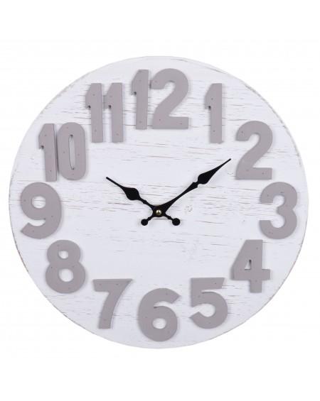 Zegar ścienny mały biało-szary