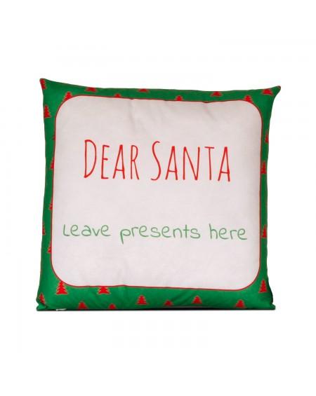 Poduszka Dear Santa green
