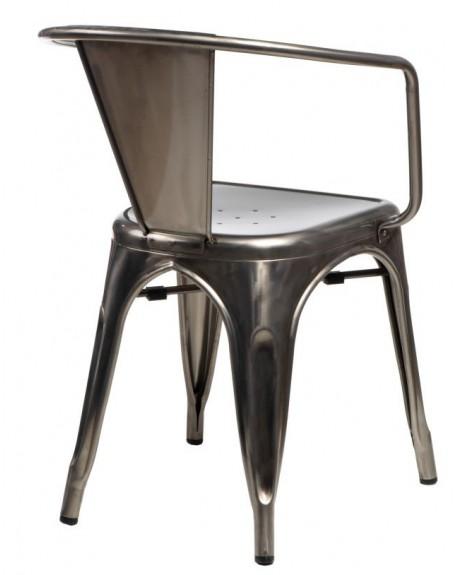 Krzesło Metalove Arms graphite