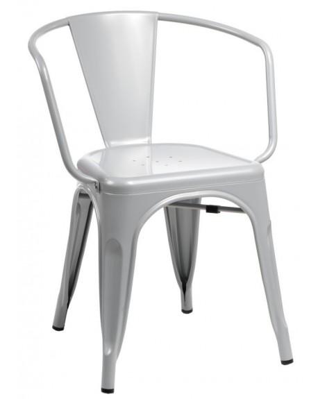 Krzesło Metalove Arms grey