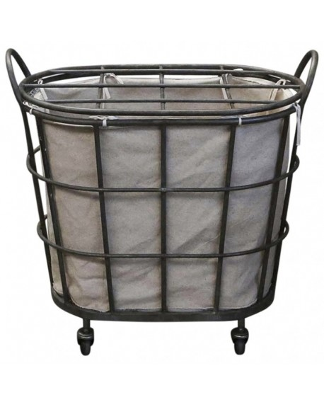 Kosz na pranie na kółkach