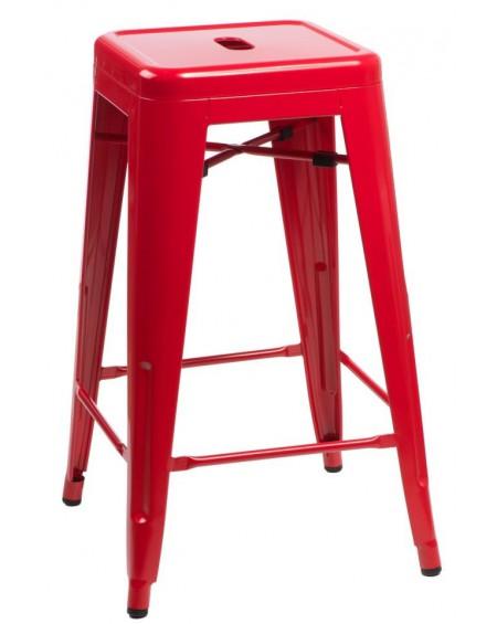 Stołek barowy Metalove red