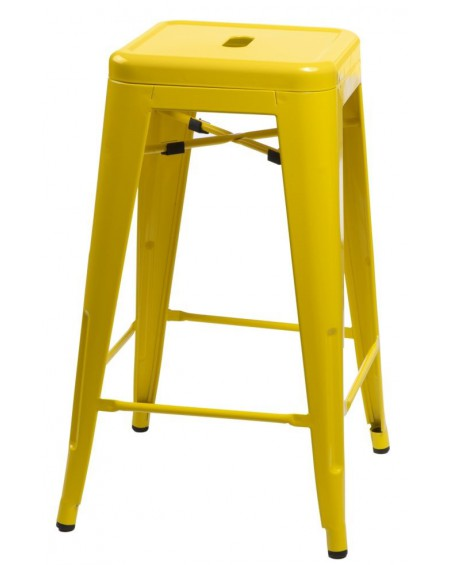 Stołek barowy Metalove yellow