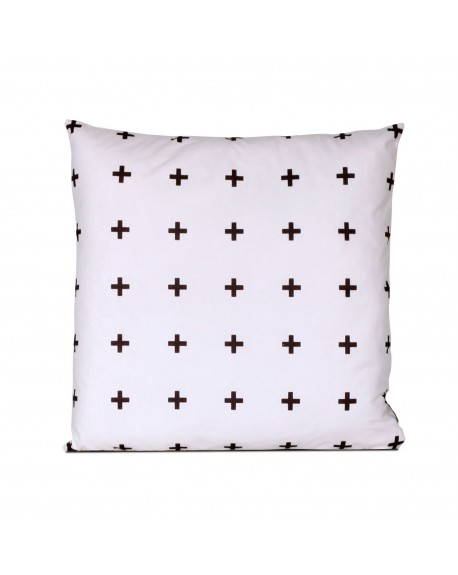 Poduszka Cross multi white
