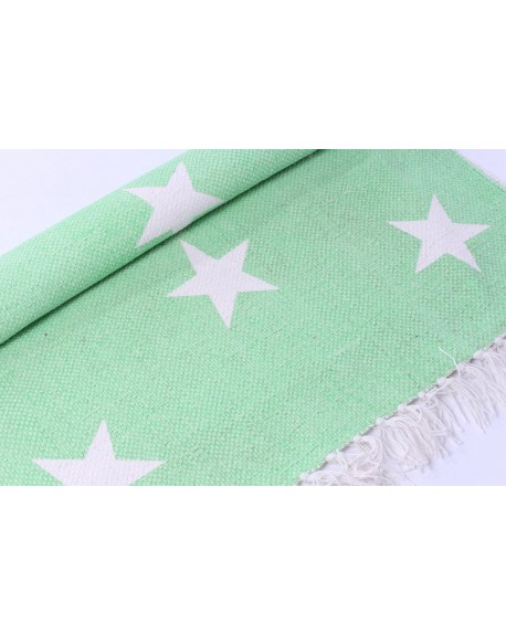 Dywan gwiazdki neon green