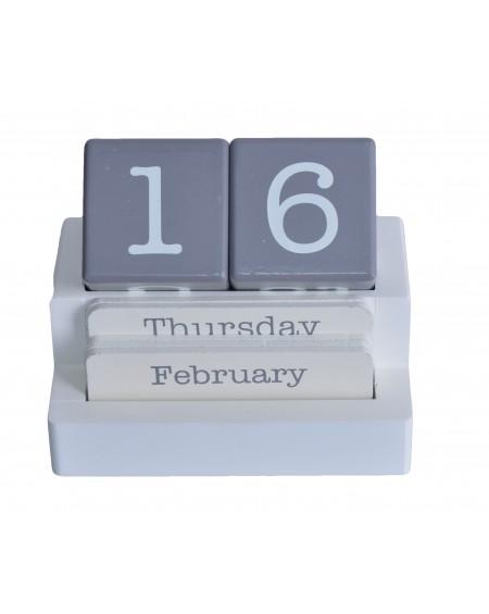Kalendarz klockowy biało-szary