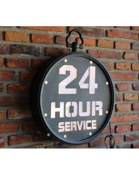 Szyld neonowy 24 HOUR SERVICE
