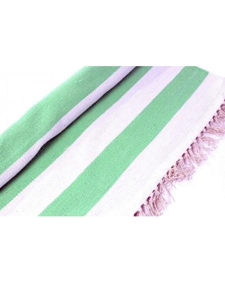 Dywan pasy zielone 140x200