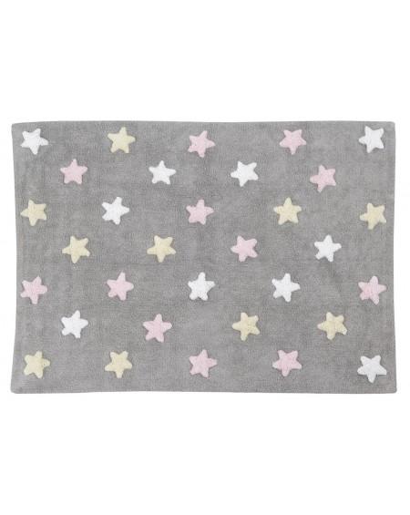 Dywan bawełniany Stars grey pink