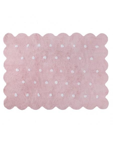 Dywan bawełniany Herbatnik pink