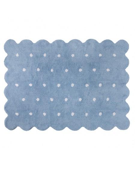 Dywan bawełniany Herbatnik blue