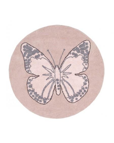 Dywan bawełniany Motyl nude
