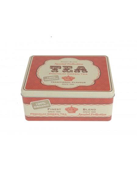 Puszka na herbatę czerwona