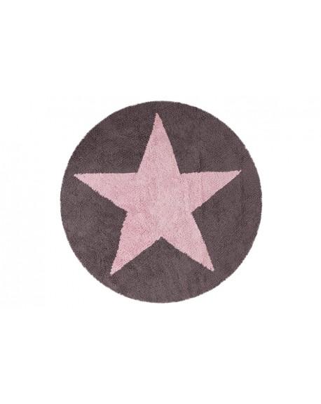 Dywan okrągły dwustronny pink grey