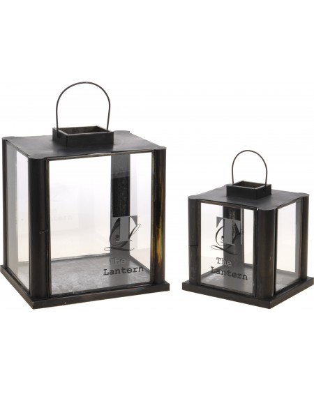 Lampion 2 szt. Burn Antique