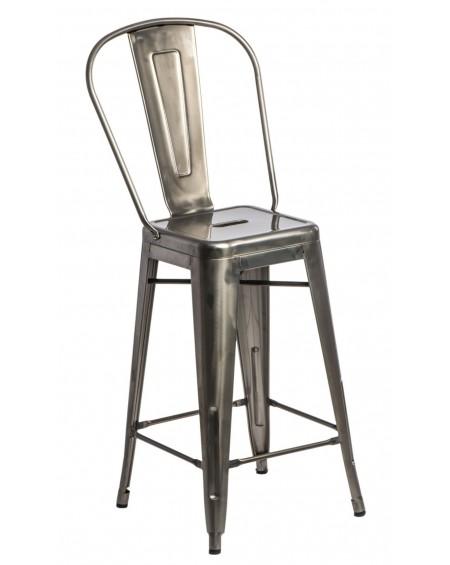Stołek barowy z oparciem Metalove graphite