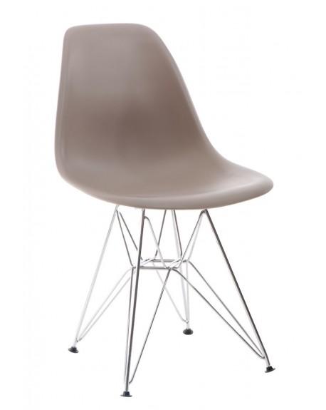 Krzesło Comet chrome caffee latte