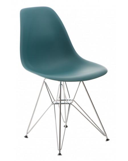 Krzesło Comet chrome navy green