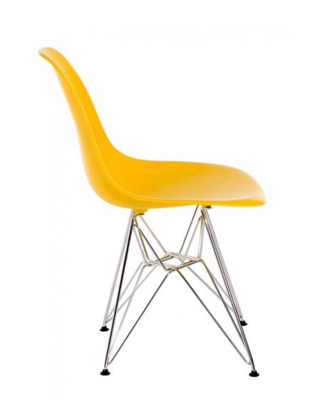 Krzesło Comet chrome yellow