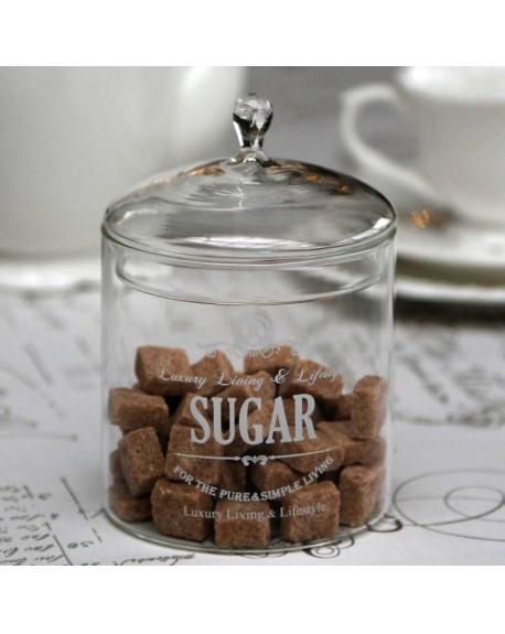 Pojemnik szklany na cukier SUGAR