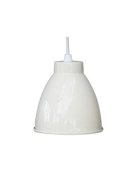 Lampa metalowa kremowa