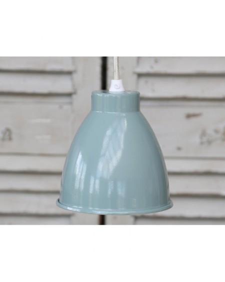 Lampa metalowa szaro-niebieska