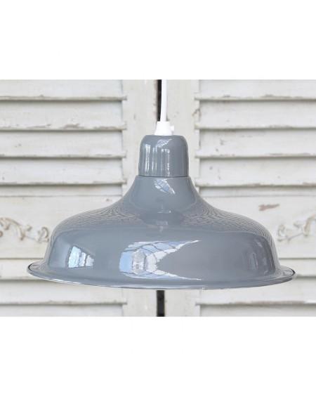 Lampa metalowa szara