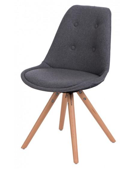 Krzesło Nord Star pikowane szare