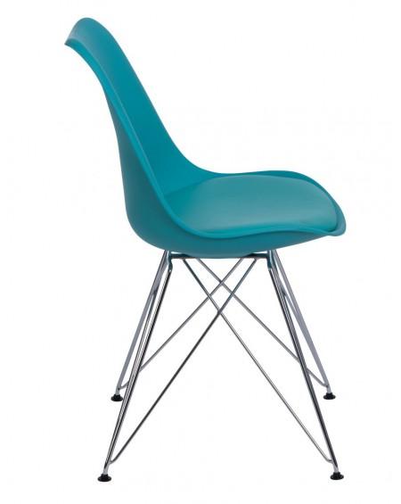 Krzesło Nord chrome niebieskie