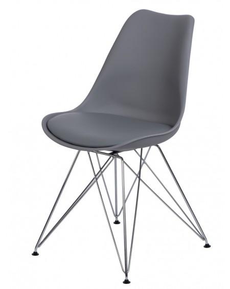 Krzesło Nord chrome szare