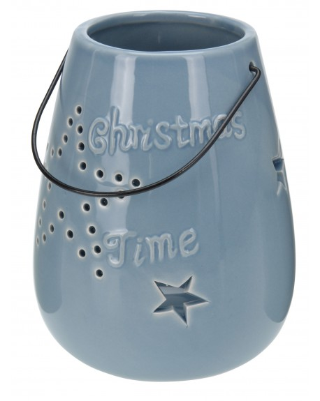 Lampion ceramiczny Christmas Time granatowy