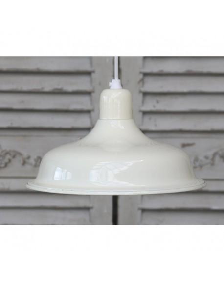 Lampa metalowa kremowa II