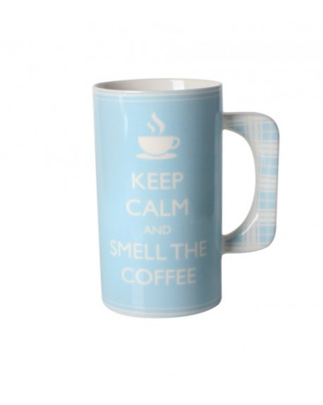 Kubek porcelanowy Keep calm and smell the coffee
