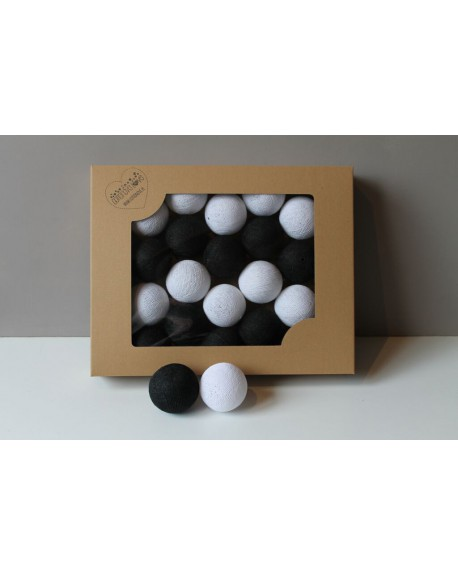 Cotton Balls Black&White 10 szt.