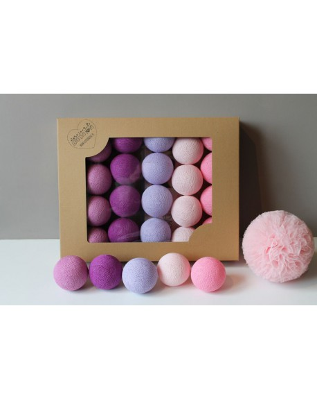 Cotton Balls Light Berry 20 szt.