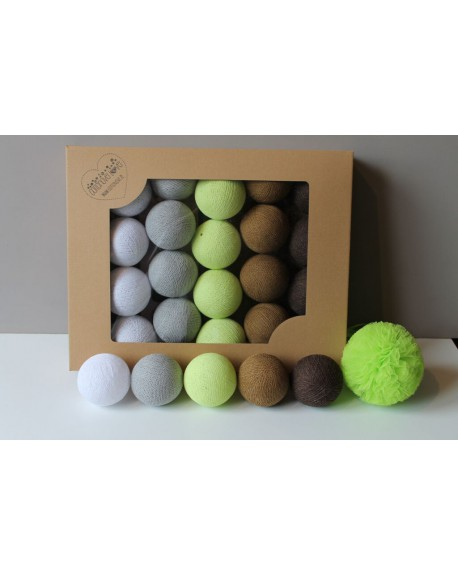 Cotton Balls Shade Lime 10 szt.