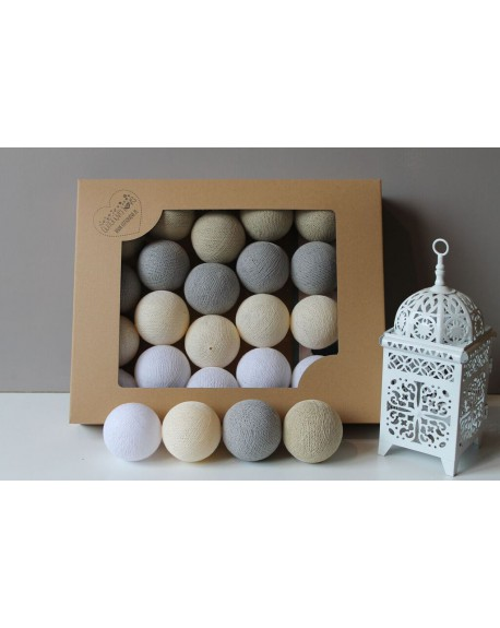 Cotton Balls Shiny Sand 10 szt.